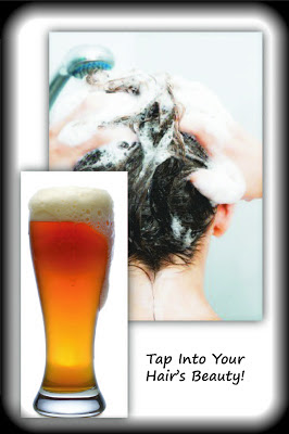 Adding volume to your hair with beer by Barbie's Beauty Bits.