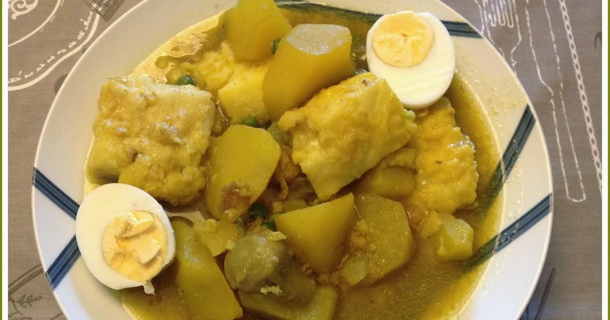 Can joan i sara patatas con bacalao huevo y alcachofas - Patatas en caldo con bacalao ...