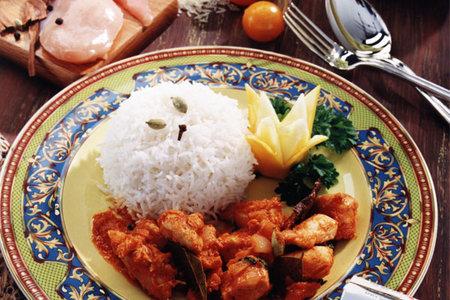 دجاج مبهر على الطريقة الهندية