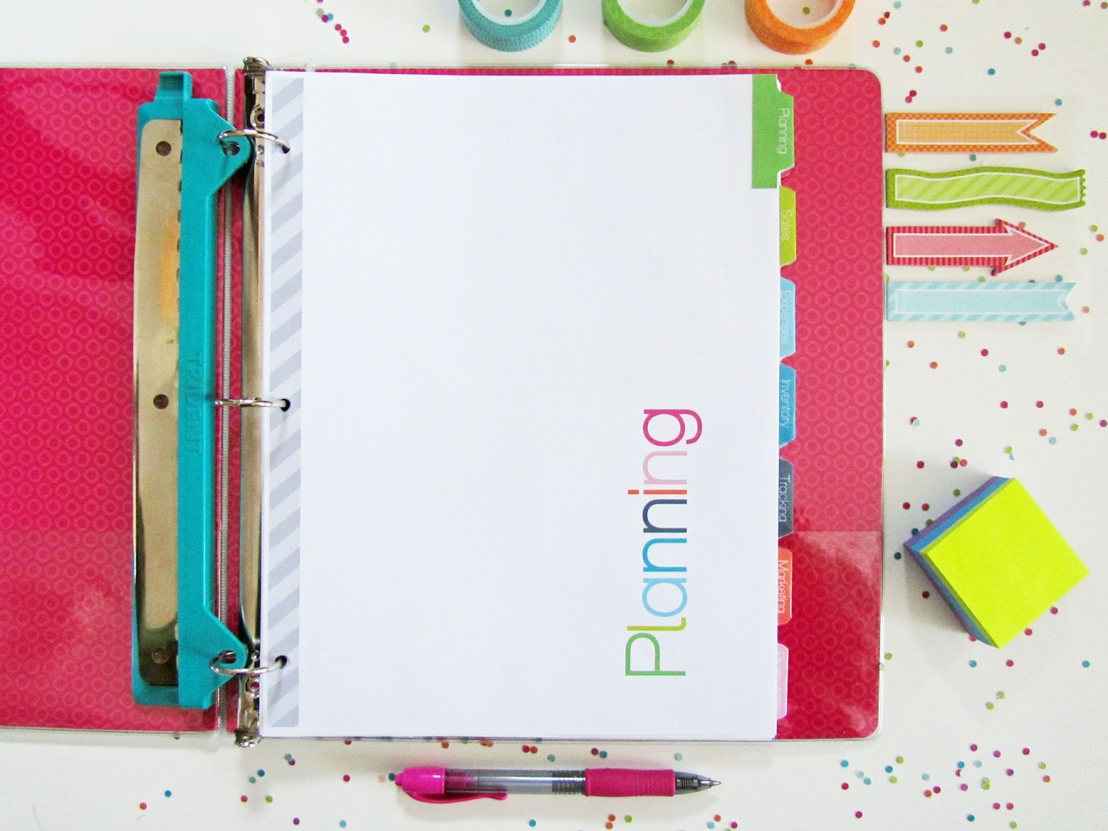Clean life and home free printable divider tabs pages Design your own planner online