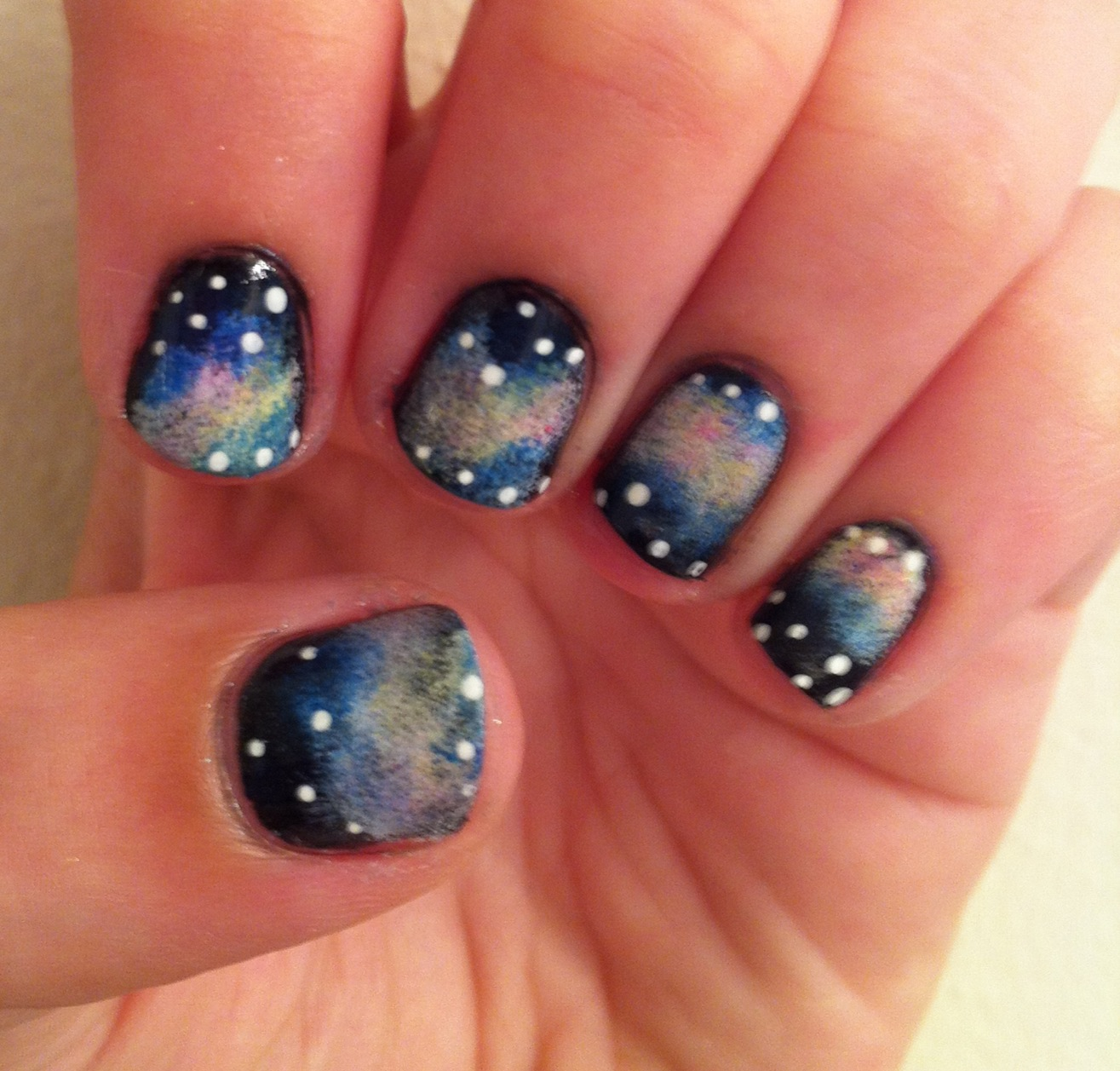 Galaxy Nails Tutorial: Miscellaneous Manicures: How To: Galaxy Nail Tutorial