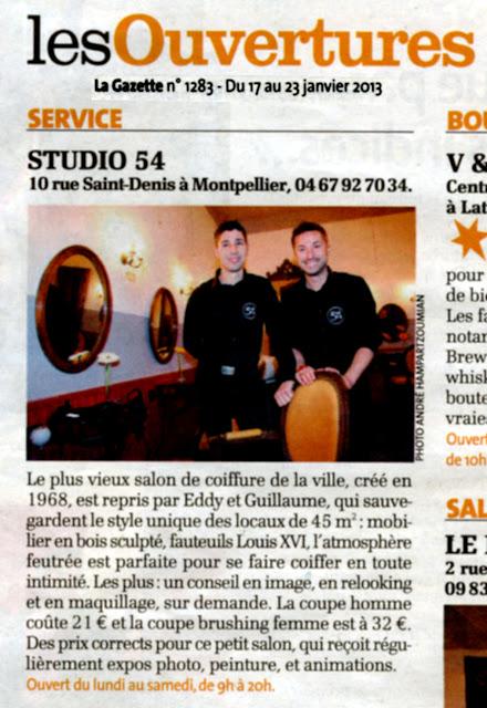 Eddy et Guillaume les deux responsables du salon de coiffure Studio 54 à Montpellier.
