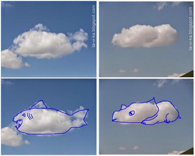 облака похожие на животных