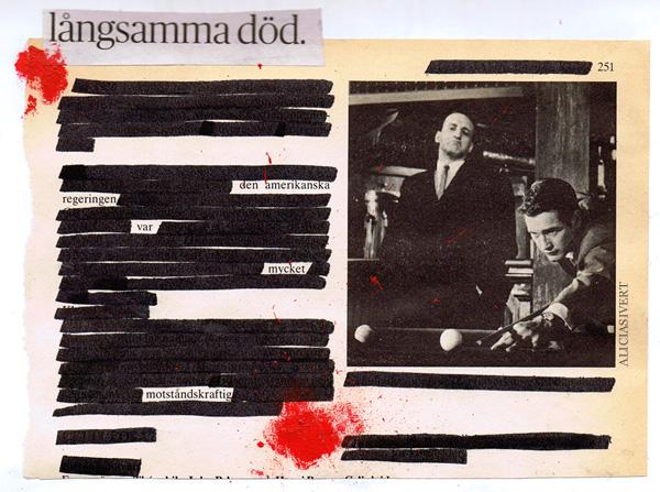 aliciasivert, alicia sivertsson, collage, motståndskraft, långsamma död, amerikanska regeringen, pool, biljard