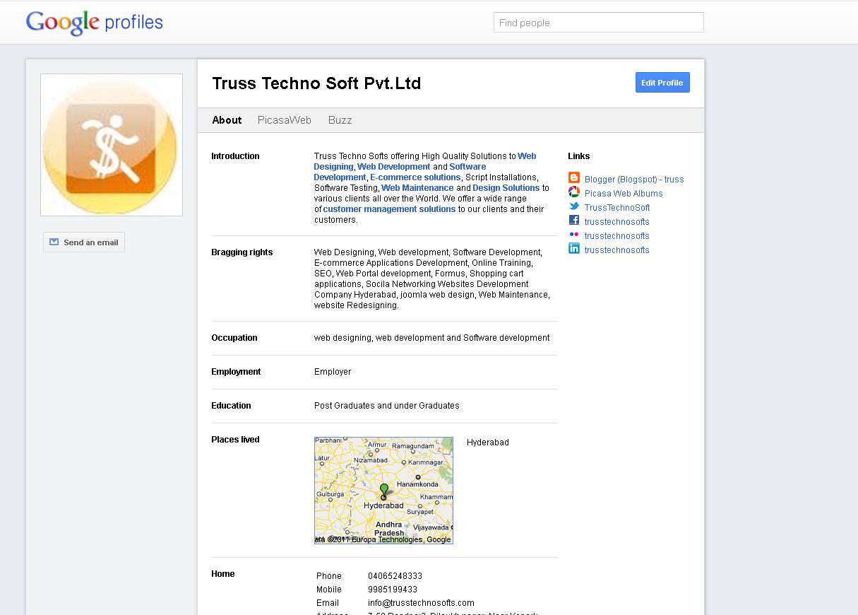 Truss techno softs google profile