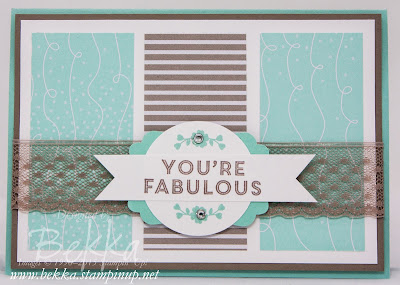 You're Fabulous Card - find lots of Stampin' Up! UK inspiration here