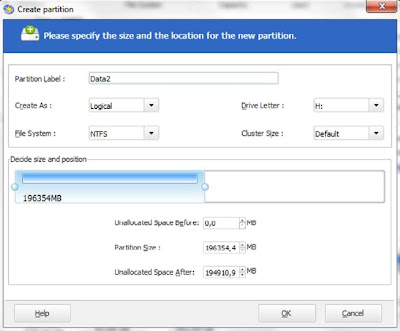 Easeus Create Partition 2