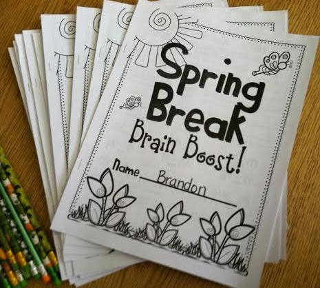 http://www.teacherspayteachers.com/Product/Spring-Break-Brain-Boost-for-First-Grade-1142884