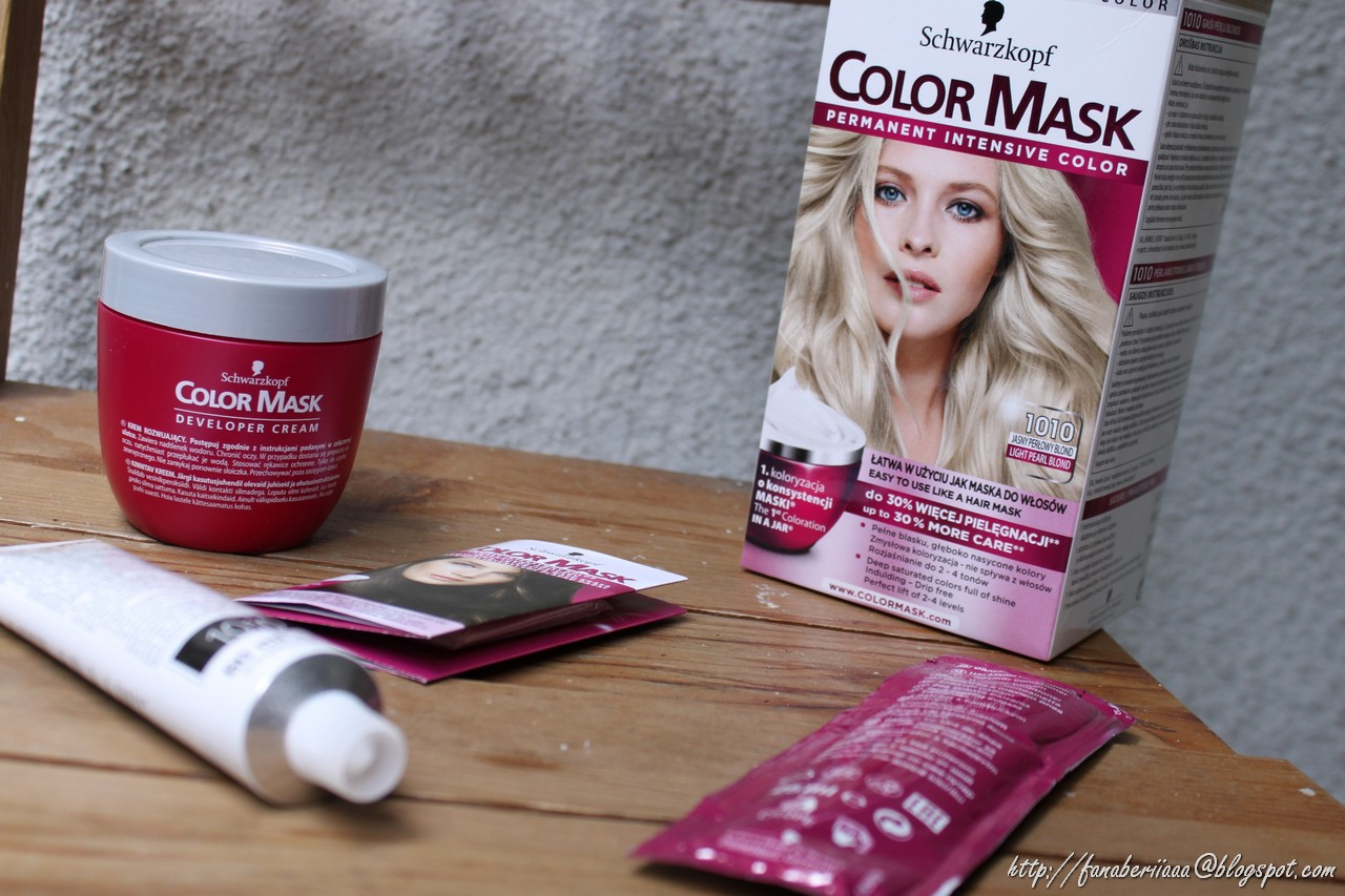 schwarzkopf color mask jasny perłowy blond, farbowanie