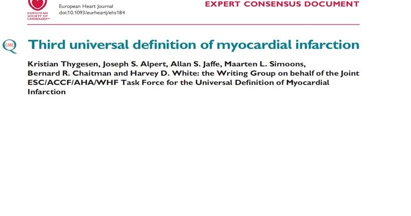 Definici n universal infarto agudo de miocardio for Universal definicion