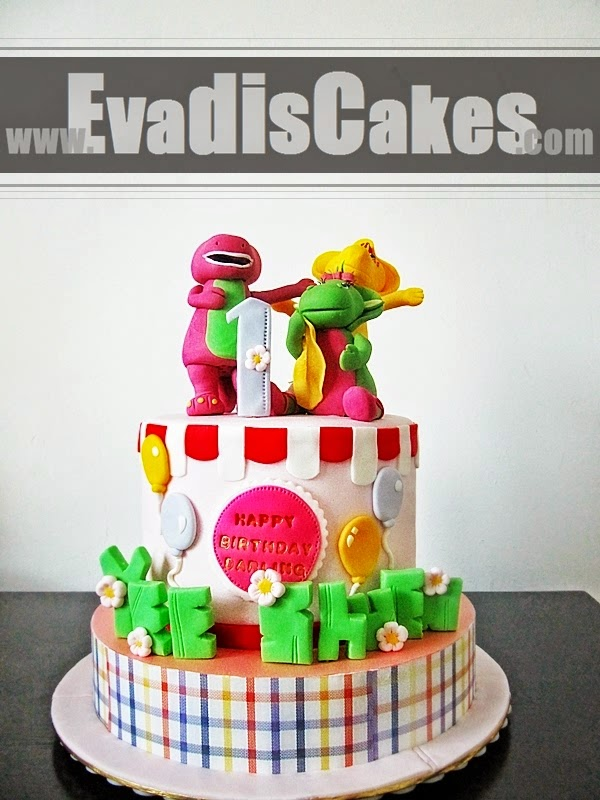 Barney and Friends cake full view