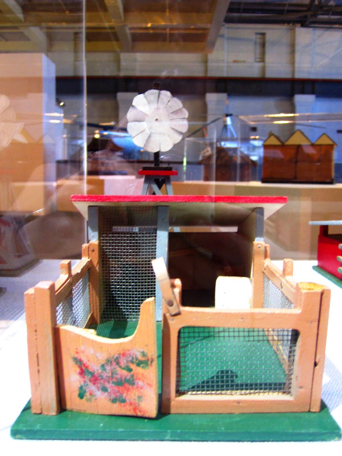Vintage toy farm building and windmill from Sydney shop Walther & Stevenson.