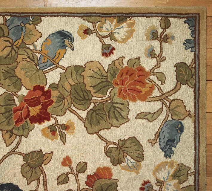 Pottery Barn Bird Floral Rug Decor Look Alikes