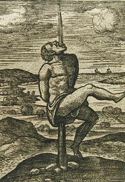 hukuman mati dengan ditusuk kayu