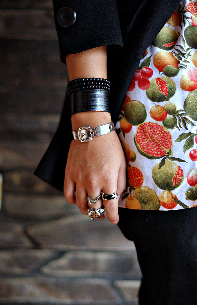 Street Style Fruits Printed Shirt