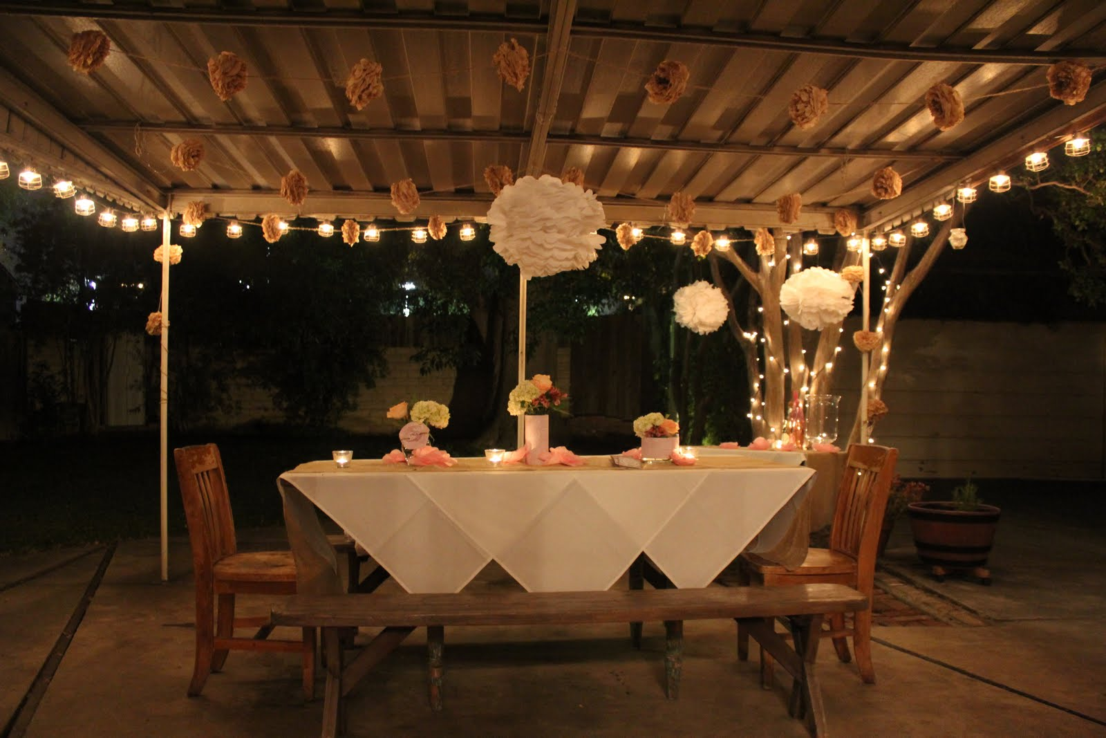 Elegant outdoor first birthday party decorations the for Outdoor dinner party decorating ideas