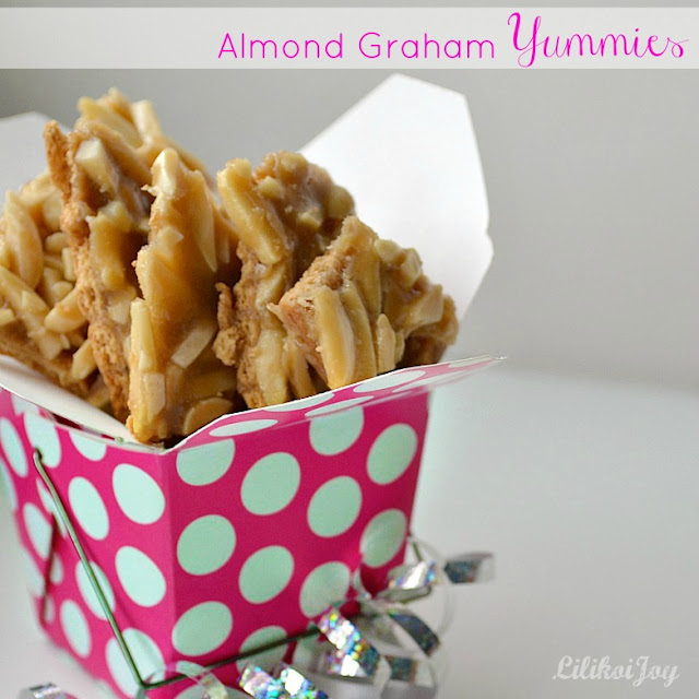 almond graham cracker brittle yummies