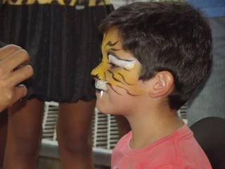 Pintura Facial de Tigre