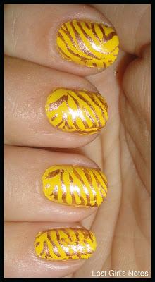tiger manicure
