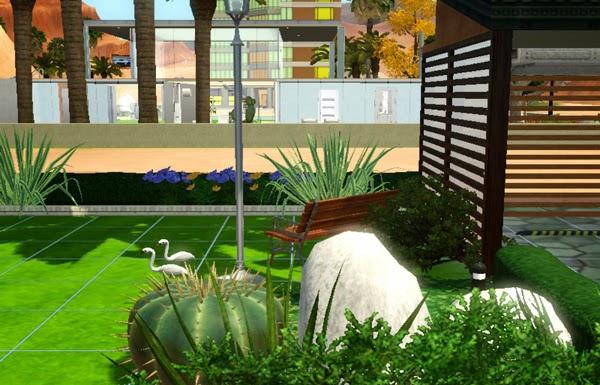 [LIVING DESIGN] WOODEN BOX HOUSE THE SIMS 3 garden