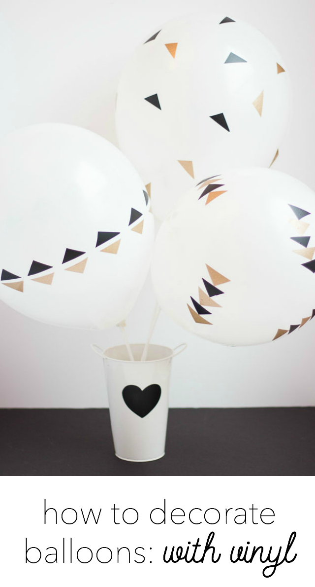 How to decorate balloons with vinyl