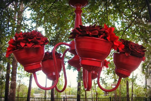 Real Garden Chandelier via Curb Alert! http://tamicurbalert.blogspot.com