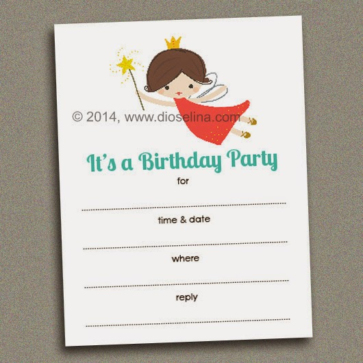 Fairy Fill-In-the-Blank Invitations