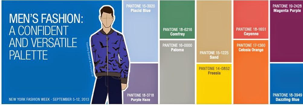 Pantone's Colour Choices for Men's Fashion Spring 2015