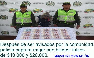 FUSAGASUGÁ: Billetes falsos de $10.000 y $20.000