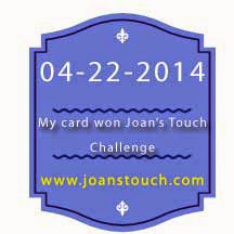 Winner at Joan's Touch