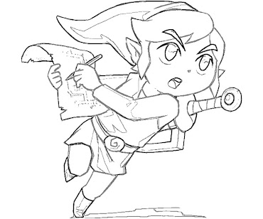 #11 Link Coloring Page