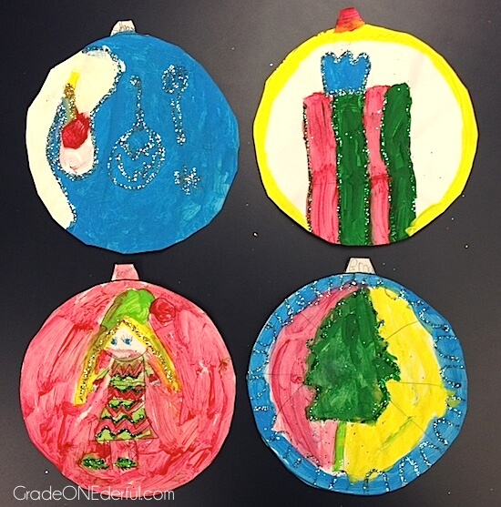 Christmas Ornament Art by Grade ONEderful