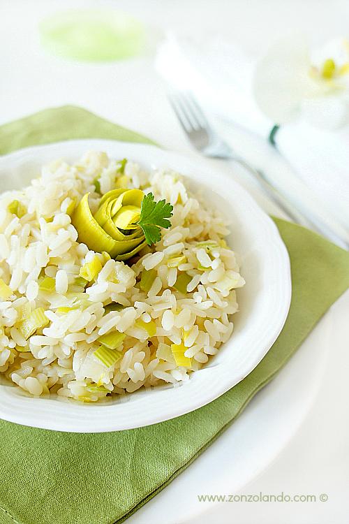 Risotto ai porri ricetta semplice - veggie easy light leek risotto recipe