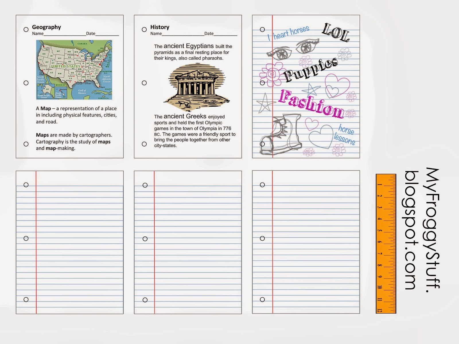 24 More Awesome Printables From Myfroggystuff Includes Worksheets And