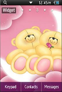 Other Cute Bear Samsung Corby 2 Theme Wallpaper