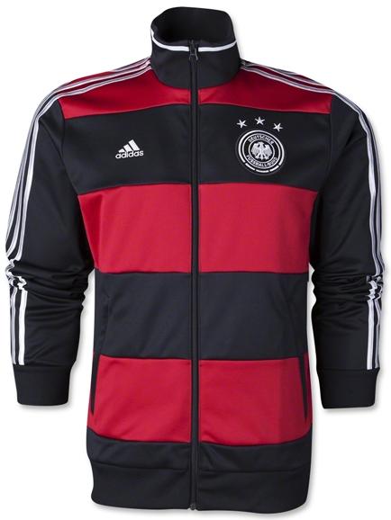 Jaket Timnas Negara Piala Dunia Jerman Away Terbaru 2014 Warna Merah Kombinasi Hitam