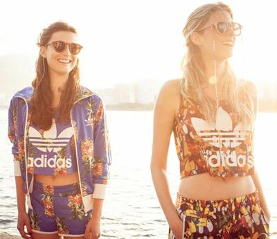 Farm e Adidas Originals regata curta feminina tops esportivos camisas