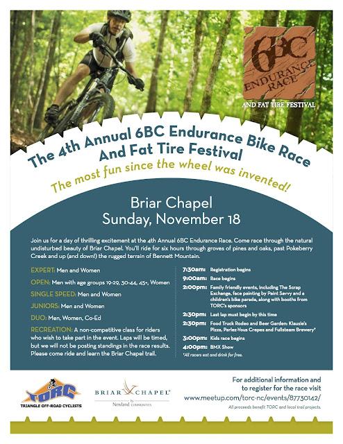 4th Annual 6BC Endurance Bike Race & 7th Annual Fat Tire Festival this Sunday!