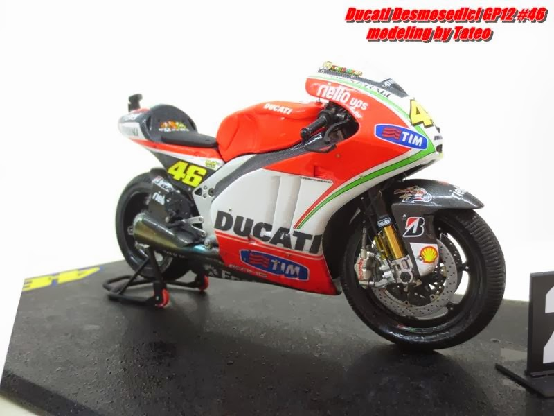 racing scale models ducati desmosedici v rossi le mans 2012 by tateo chen. Black Bedroom Furniture Sets. Home Design Ideas