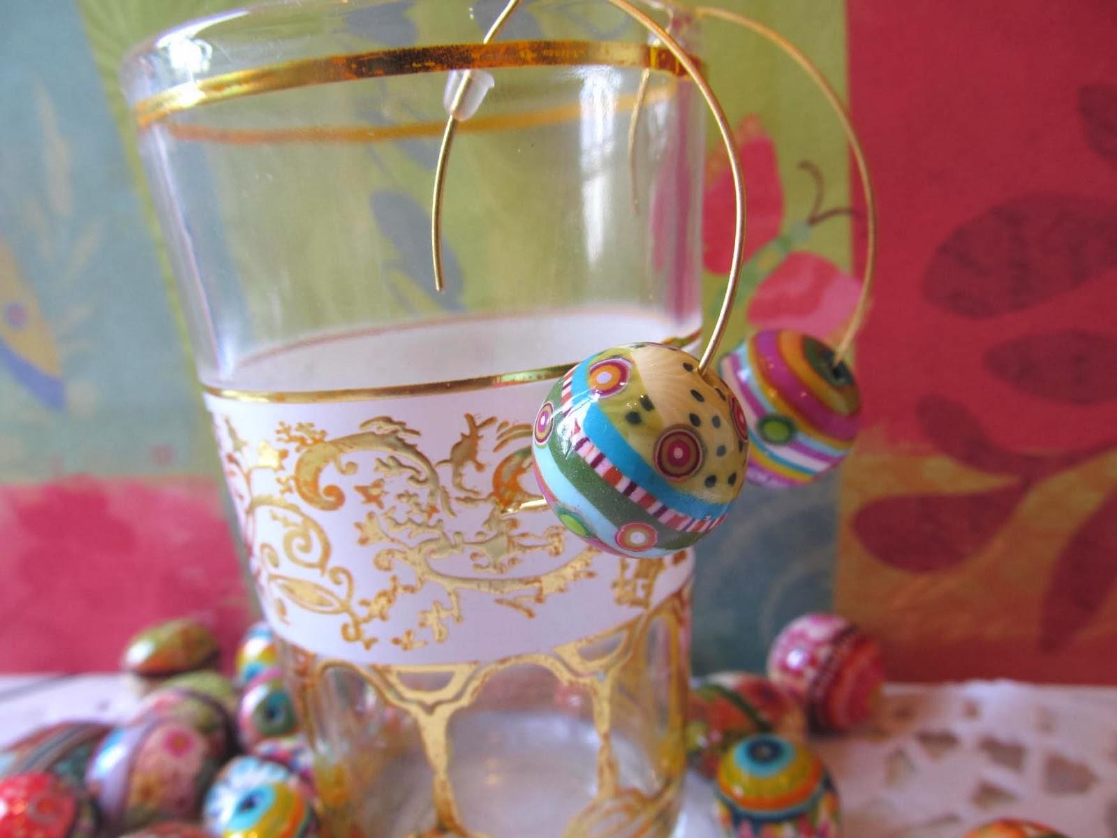חימר פולימרי, חרוזי פימו,חרוזי חימר פולימרי,גלילי פימו,גלילי חימר פולימרי fimo beads,polymer clay beads,עגילים מפימו,earring fimo
