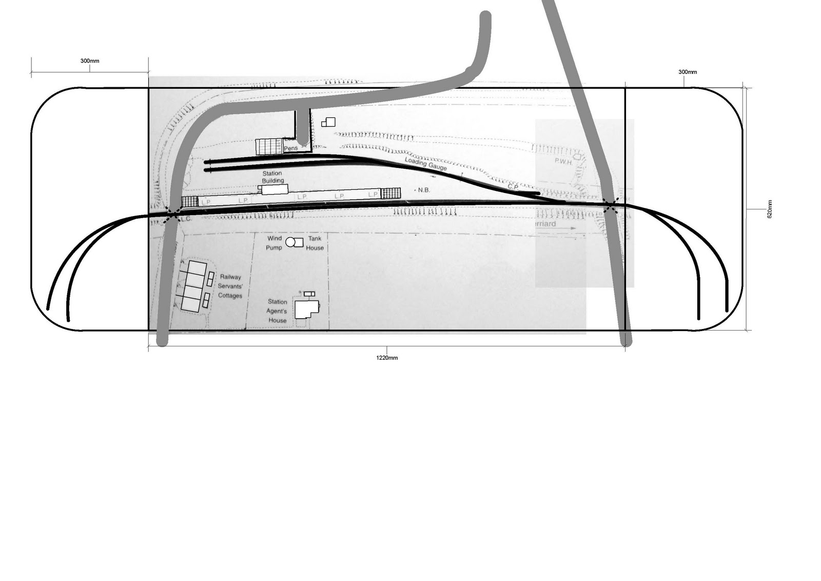 Basingstoke & Alton Light Model Railway N Gauge: Cliddesden plans