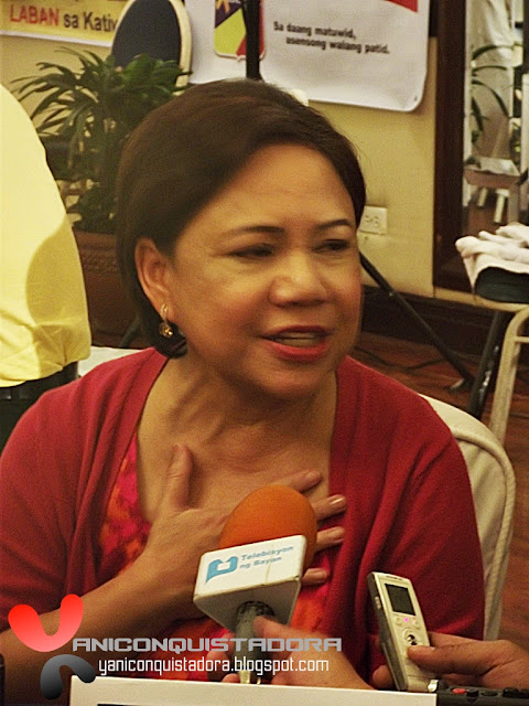 Mrs. Hanapbuhay, CYNTHIA VILLAR officially joins the Administration's 2013 Senatorial Slate
