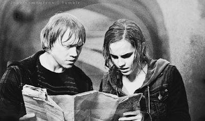 Foto não-oficial de 'Relíquias da Morte - Parte 2' mostra Rony e Hermione na Câmara Secreta | Ordem da Fênix Brasileira