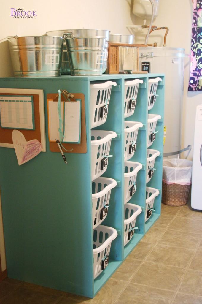 Ana white brook laundry basket dresser building beingbrook for Baskets for kids room