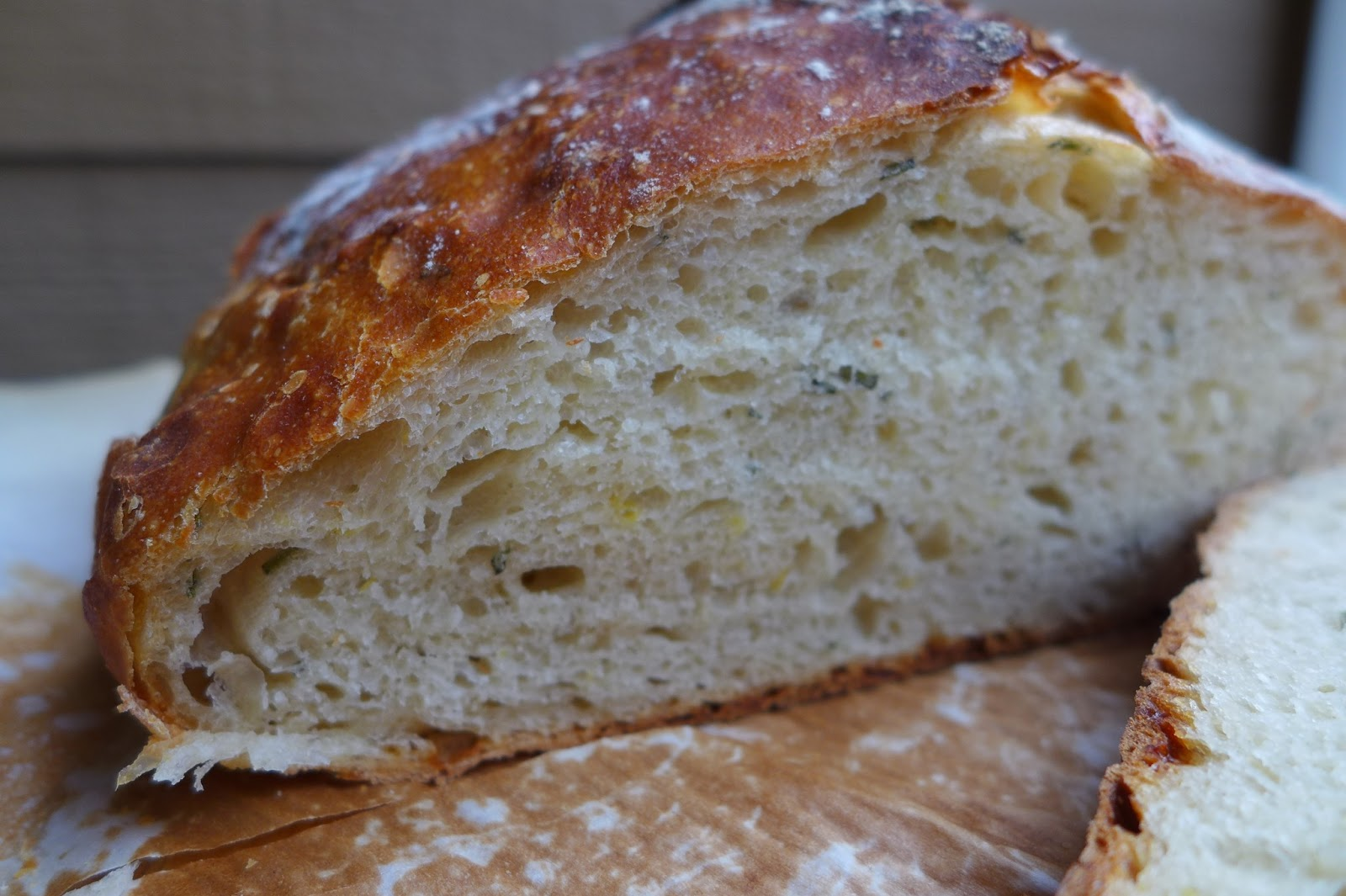 Dimples & Delights: Lemon Rosemary Gruyere Artisan Bread