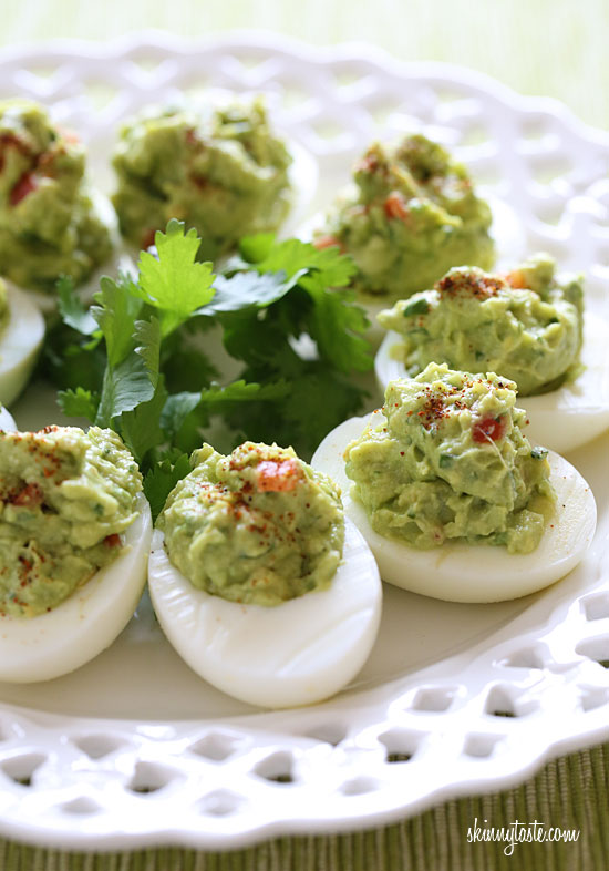 Guacamole Deviled Eggs – a delicious, low-carb appetizer.