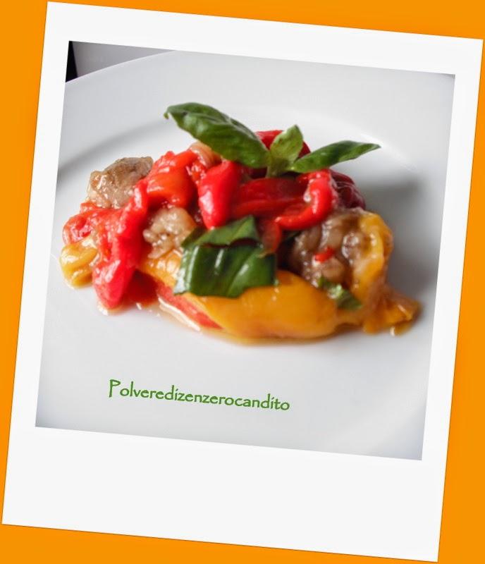 peperoni e melanzane al forno