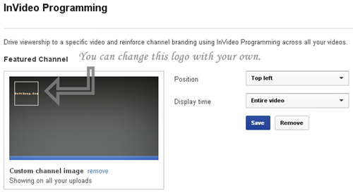 how to add logo in youtube video
