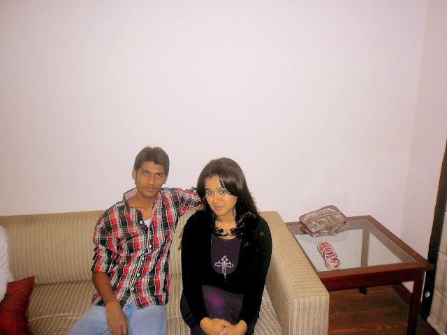 Anshu Dikshant with Bhojpuri Actress Gunjan Pant