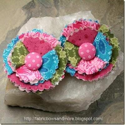 fabric flower scalloped edges